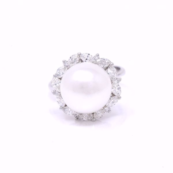 Picture of Sea Pearl Classic Diamond Ring