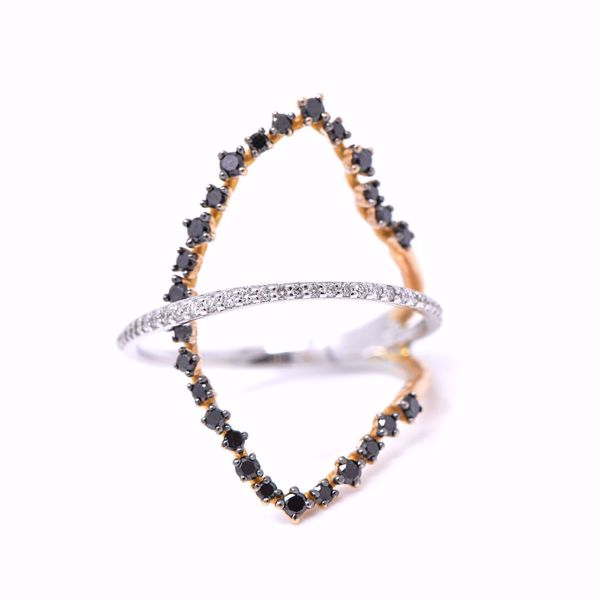 Picture of Trendy Black And White Diamond Ring