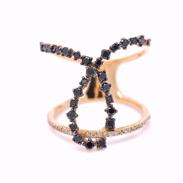 Picture of Stylish Black And White Diamond Ring