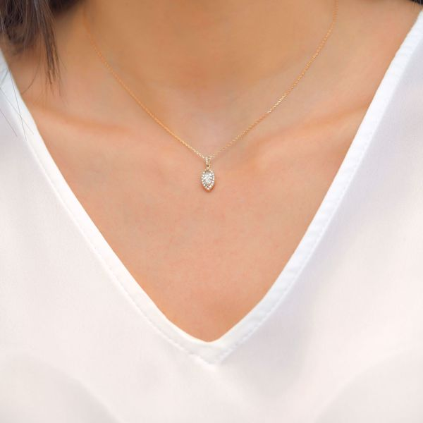 Picture of Attractive Marquise White Diamond Necklace