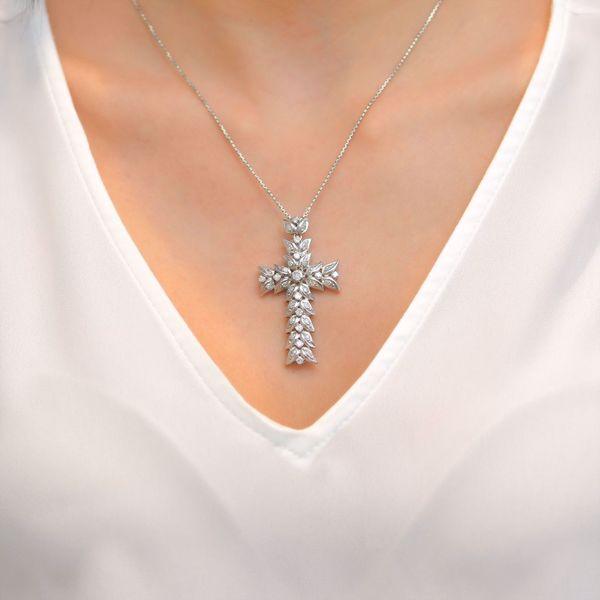 Picture of Eccentric Diamond Cross Necklace