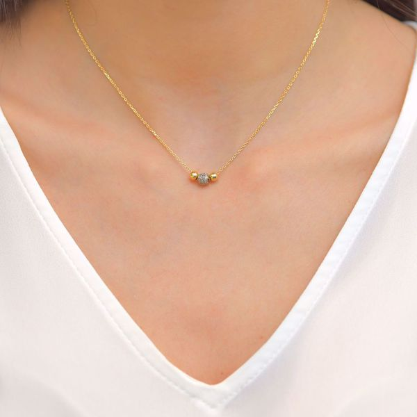 Picture of Simple Gold & Diamonds Necklace