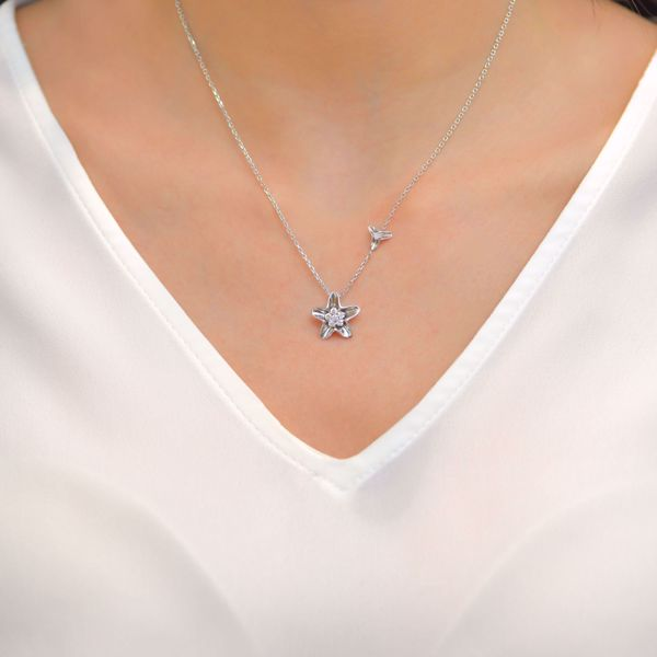 Picture of Engaging Diamond Star Necklace