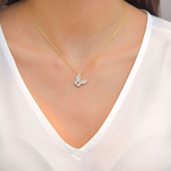 Picture of Shinny Diamond Butterfly Necklace