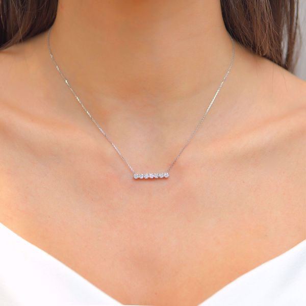 Picture of Bar of Flower Illusions Diamond Necklace