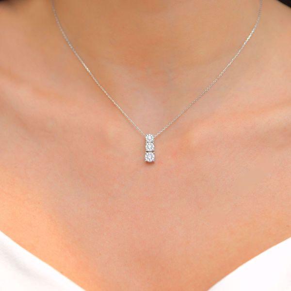 Picture of Triple Illusion Diamond Necklace