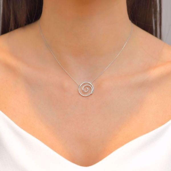 Picture of The Spiral Diamond Pendant
