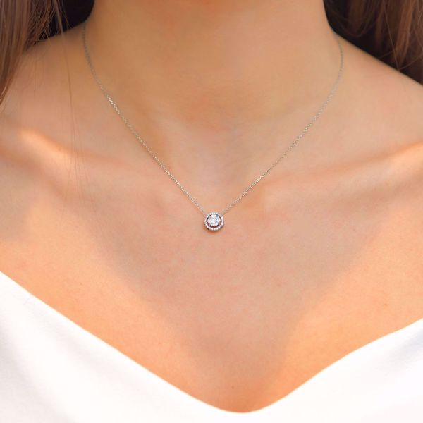 Picture of Luminous Circle Pave Diamond Necklace