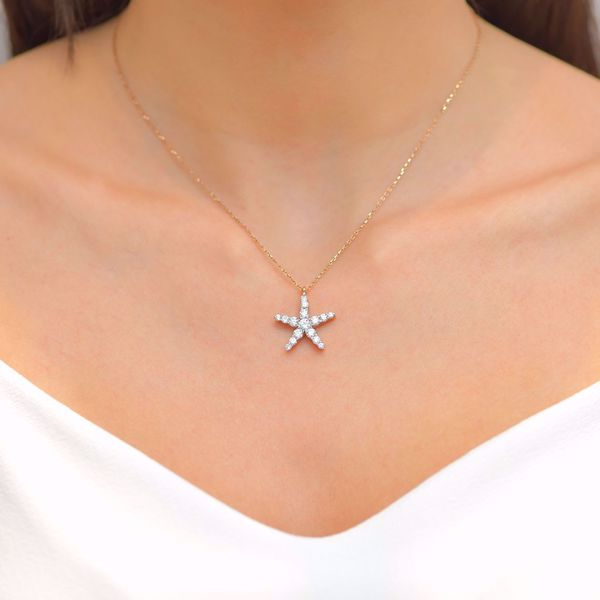Picture of The Captivating Diamond Star Necklace