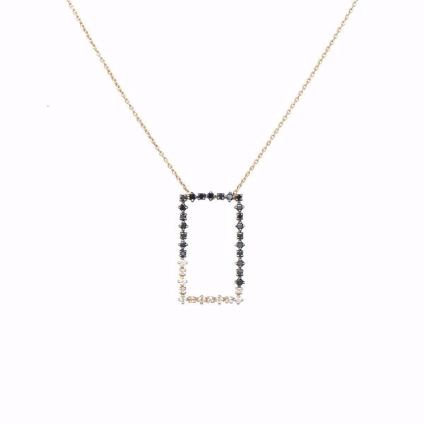 Picture of Elegant Tall Rectangle Diamond Necklace