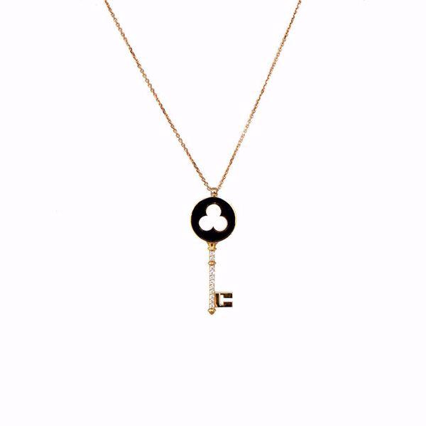 Picture of Stylish Key Diamond Necklace