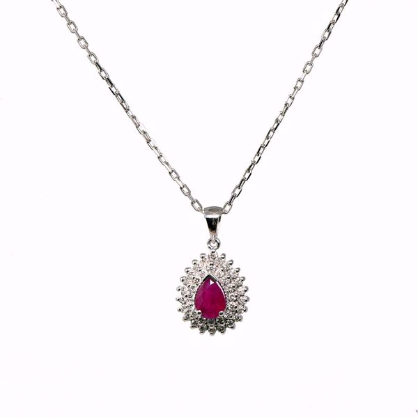 Picture of Fabulous White Diamond & Ruby Necklace