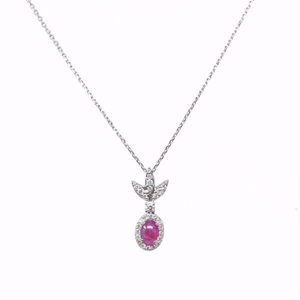 Picture of Sensational Diamond & Ruby Necklace