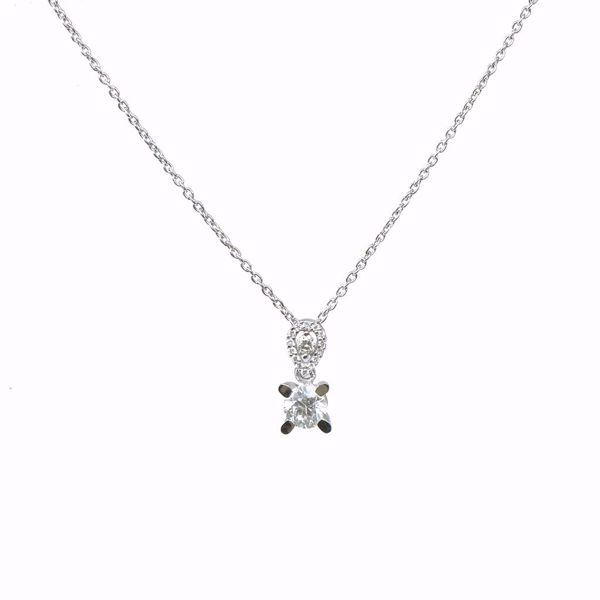 Picture of Simple Round white Diamond Necklace