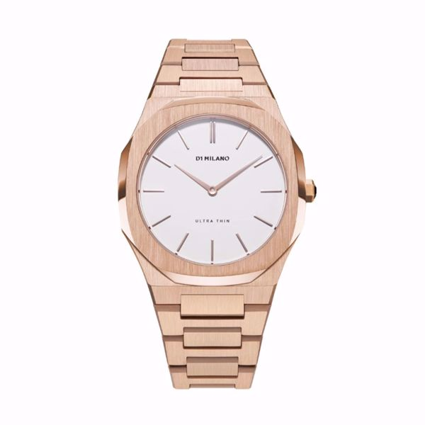 Picture of D1 Milano Ultra Thin Bracelet 38 mm (Rose Gold/Eggshell)