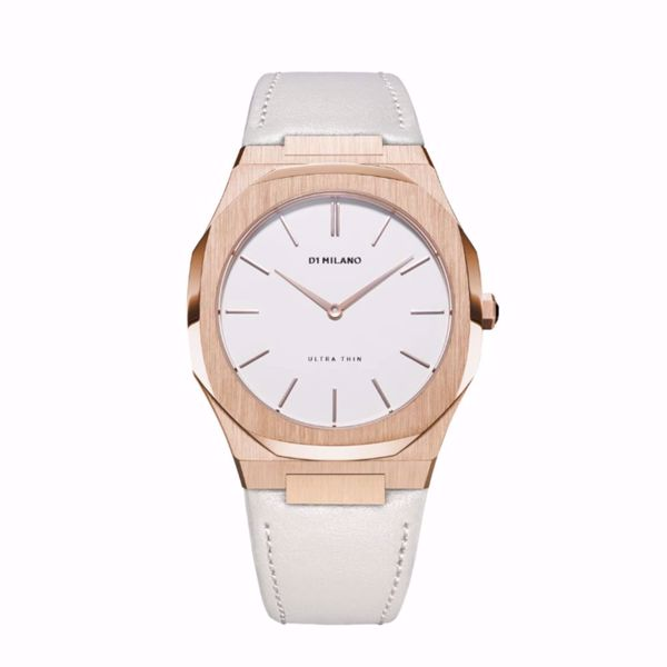 Picture of D1 Milano Ultra Thin Leather 38 mm (Rose Gold/Turtledove)