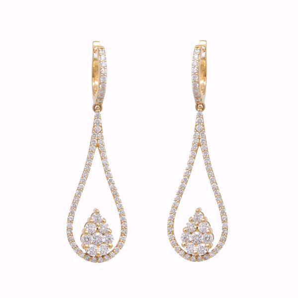 Picture of Divine Tear Drop Diamond Earrings