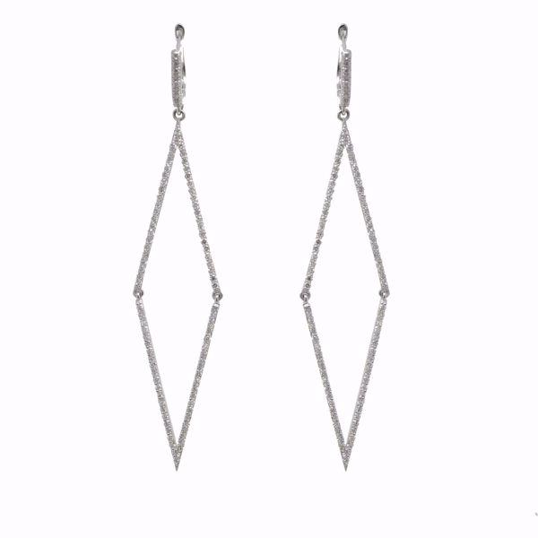 Picture of Geometrical Shape Diamond Earrings
