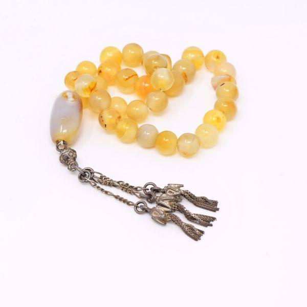 صورة Yellow Akik Prayer Beads