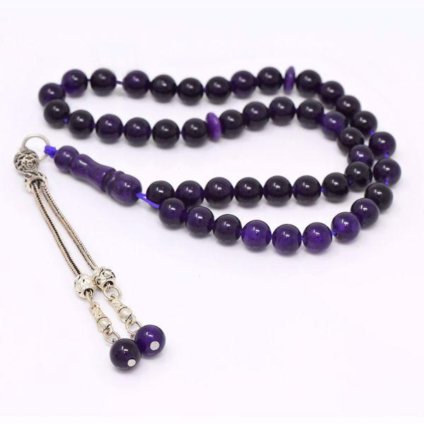 صورة Agate Black Prayer Beads
