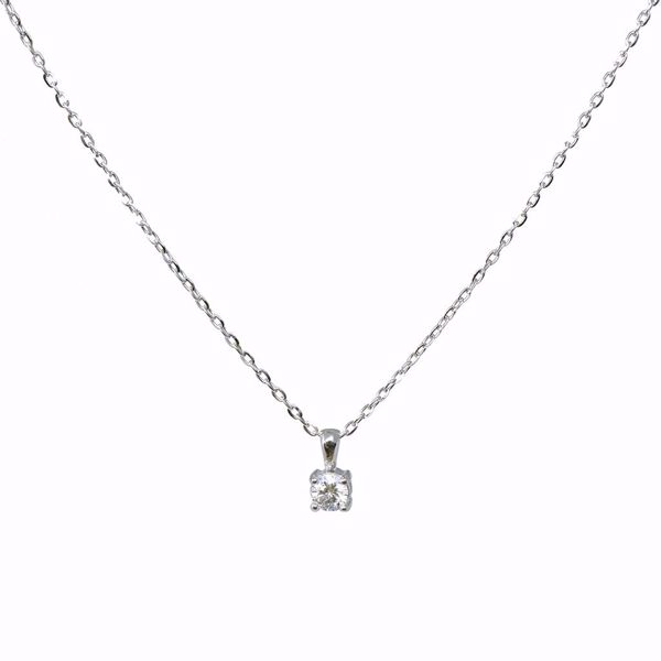 Picture of Radiant One Stone White Diamond Necklace