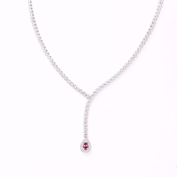 Picture of Divine Ruby & Diamond Necklace