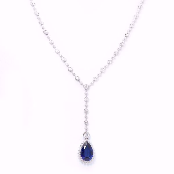 Picture of Unique Sapphire & Diamond Necklace