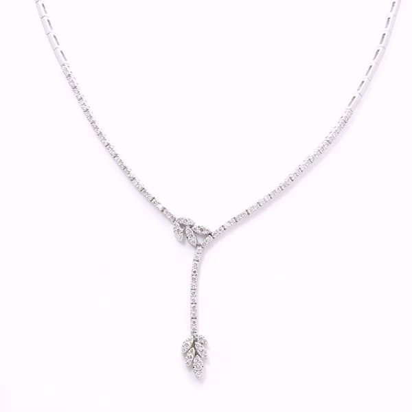 Picture of Fancy White Diamond Necklace