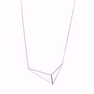 J.R.S. 3D Triangular Necklace