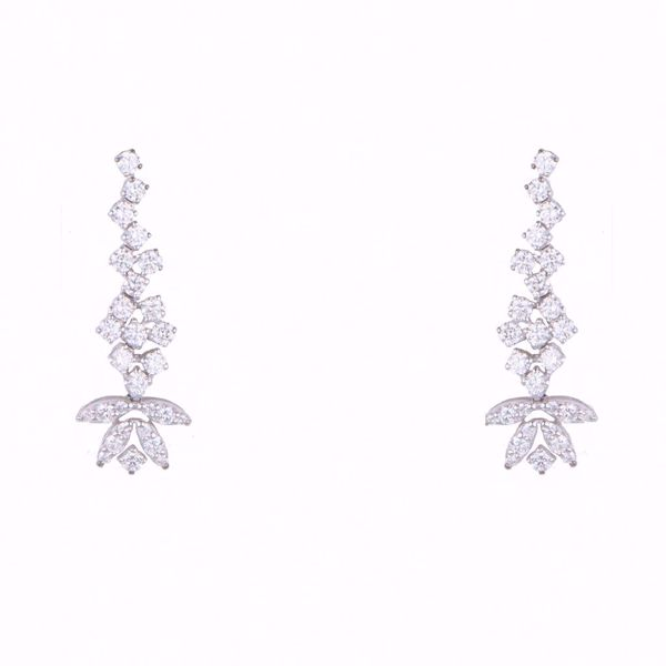 Picture of Timeless White Diamond Earrings
