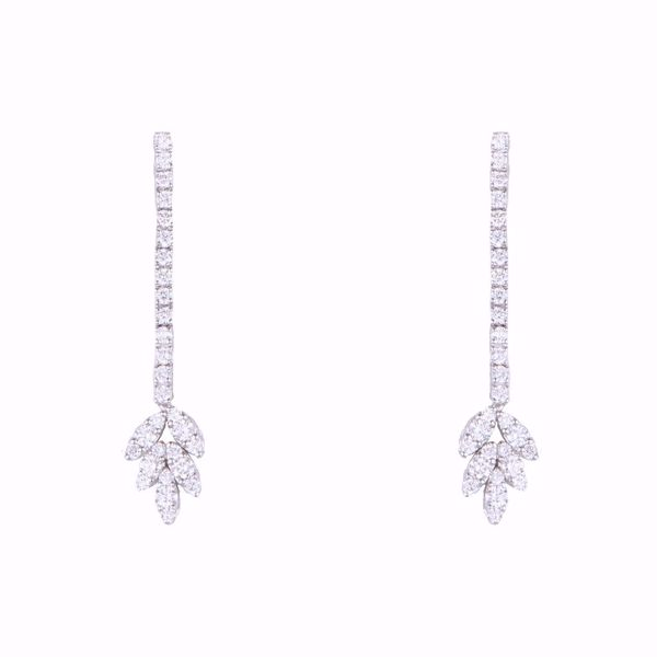 Picture of Dropped Leaf Diamond Earrings