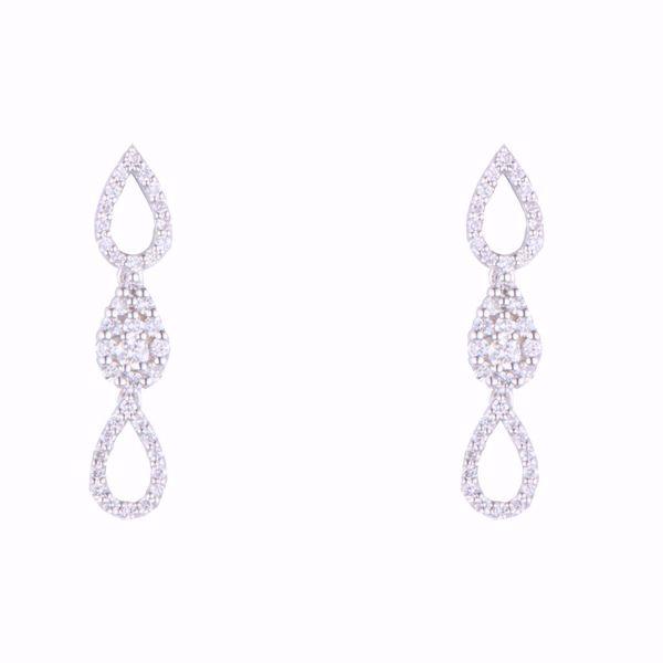 Picture of Triple Tears Diamond Earrings
