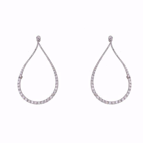 Picture of Tear Diamond Earrings
