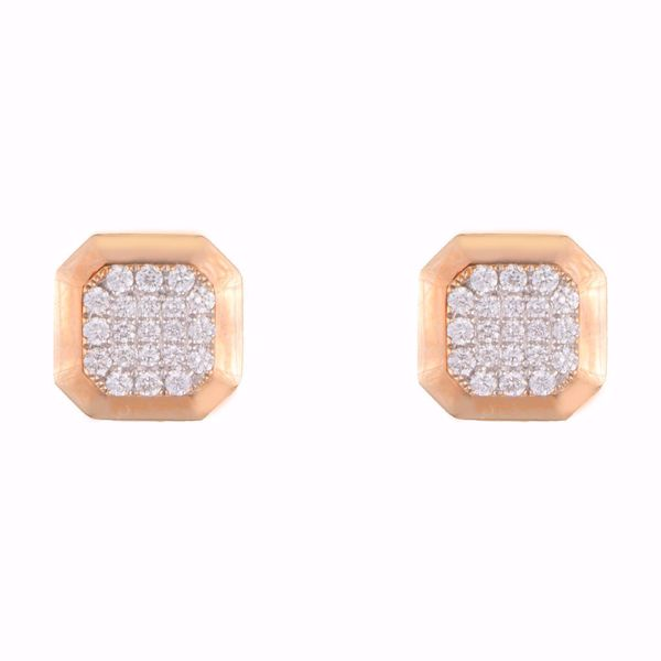 Picture of Octagon Pink Diamond Earring