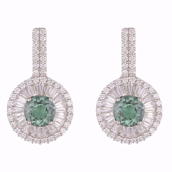 Picture of Emerald & Diamond Earrings
