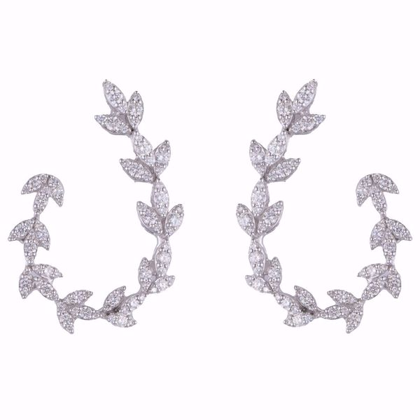 Picture of Curved Diamond Earrings