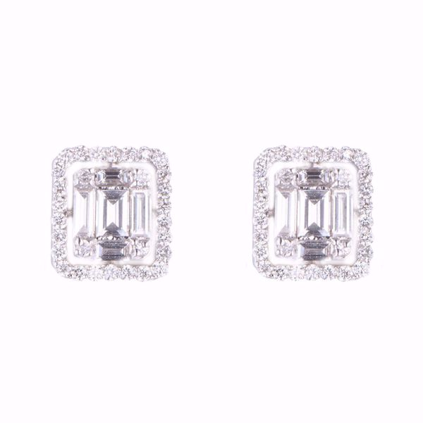 Picture of Classy Square Diamond  Illusion Earrings
