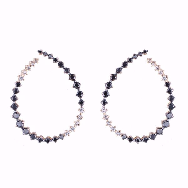 Picture of Classic Black & White Diamond Earrings