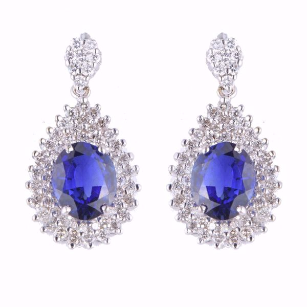 صورة Fancy Diamond & Sapphire Earrings