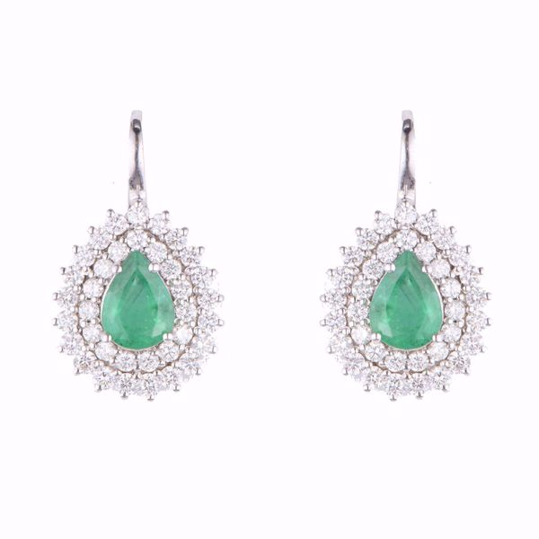 Picture of Emerald & Diamond Earrings