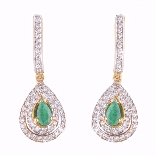 صورة Long Diamond Earrings