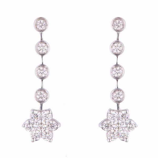 Picture of Long Diamond Star Earrings