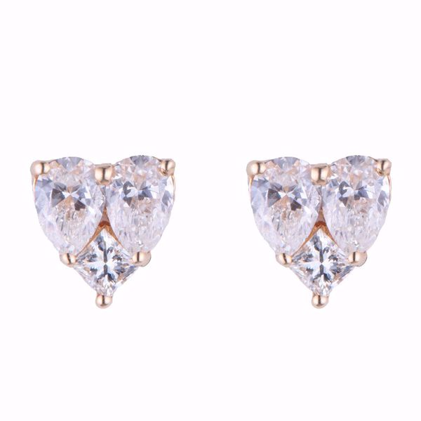 Picture of Heart Shape Diamond Earrings