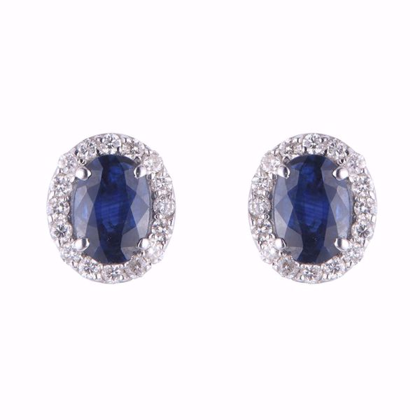 صورة Diamond & Sapphire Earrings