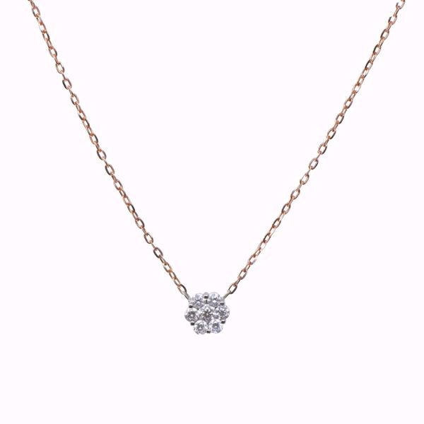 Picture of Remarkable White Diamond Flower Necklace