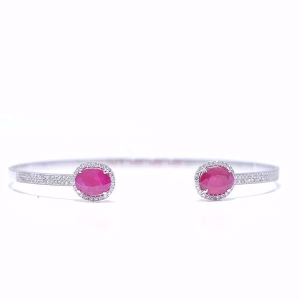 Picture of Red Ruby & Diamond Bangle