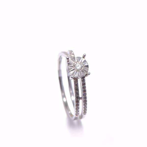 Picture of Wonderful White Diamond Solitaire Ring