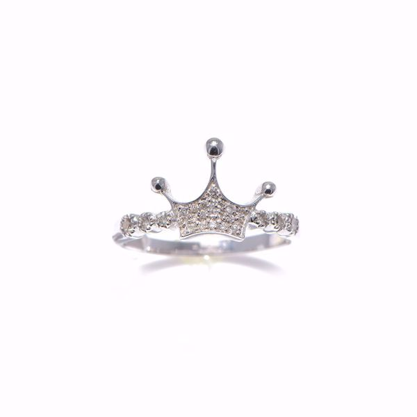Picture of White Diamond Crown Ring
