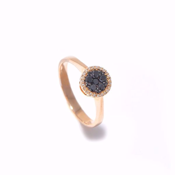Picture of Black & White Diamond Solitaire Ring