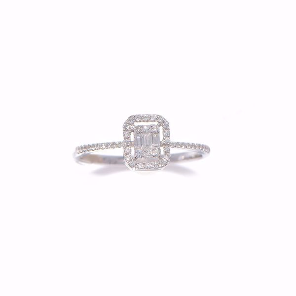 Picture of Classy Emerald Cut White Diamond Ring